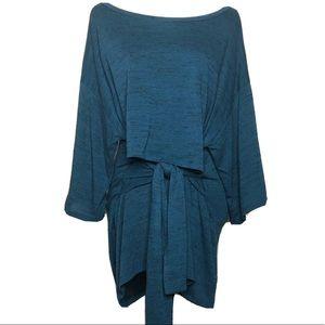 Motherhood Nursing Tunic Top Teal Blue Size L